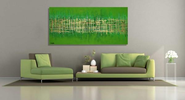 Große Gemälde kaufen in Grün und Gold
