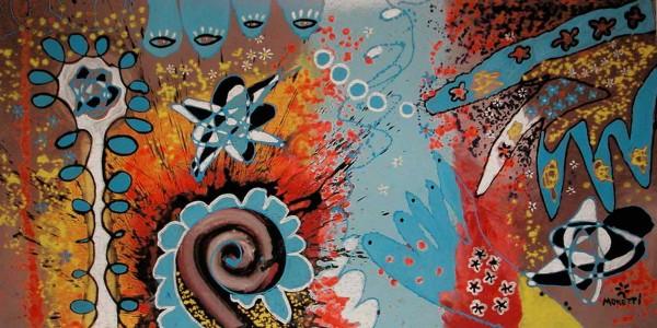 Moderne Malerei: Blue vivace