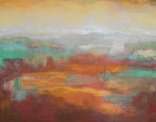 Ölgemälde Landschaften: Fernsicht