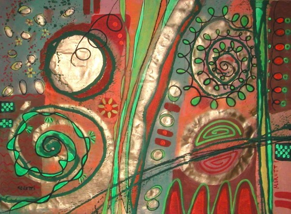 Moderne Malerei: Greengold