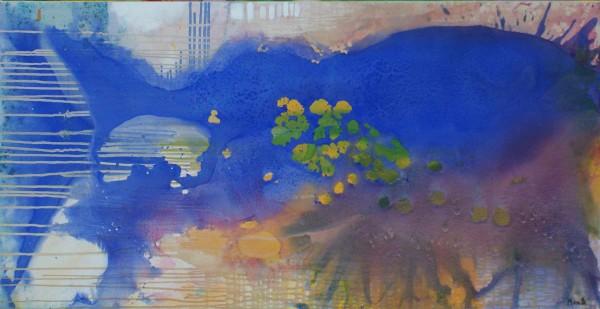 Aquarelle kaufen: Kunstbilder: Blauer Fisch