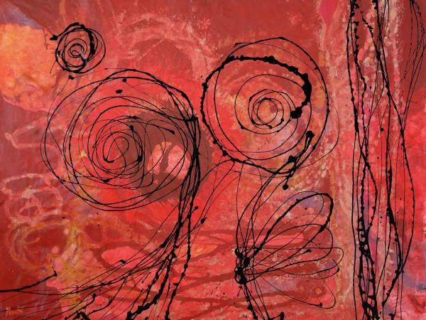 Abstrakte Gemälde kaufen: Red connect