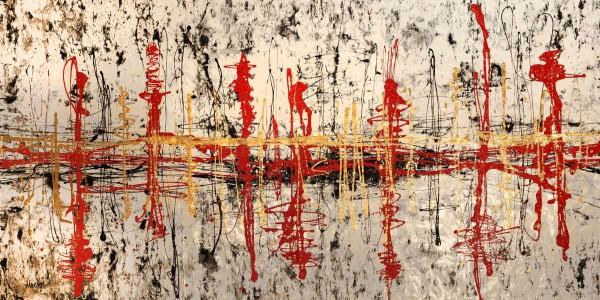 Kunstwerke: Schwarz weiss rot