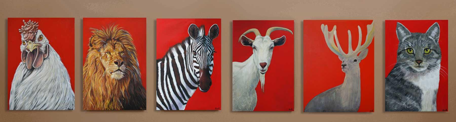 Tierportraits: Gemälde Tiere