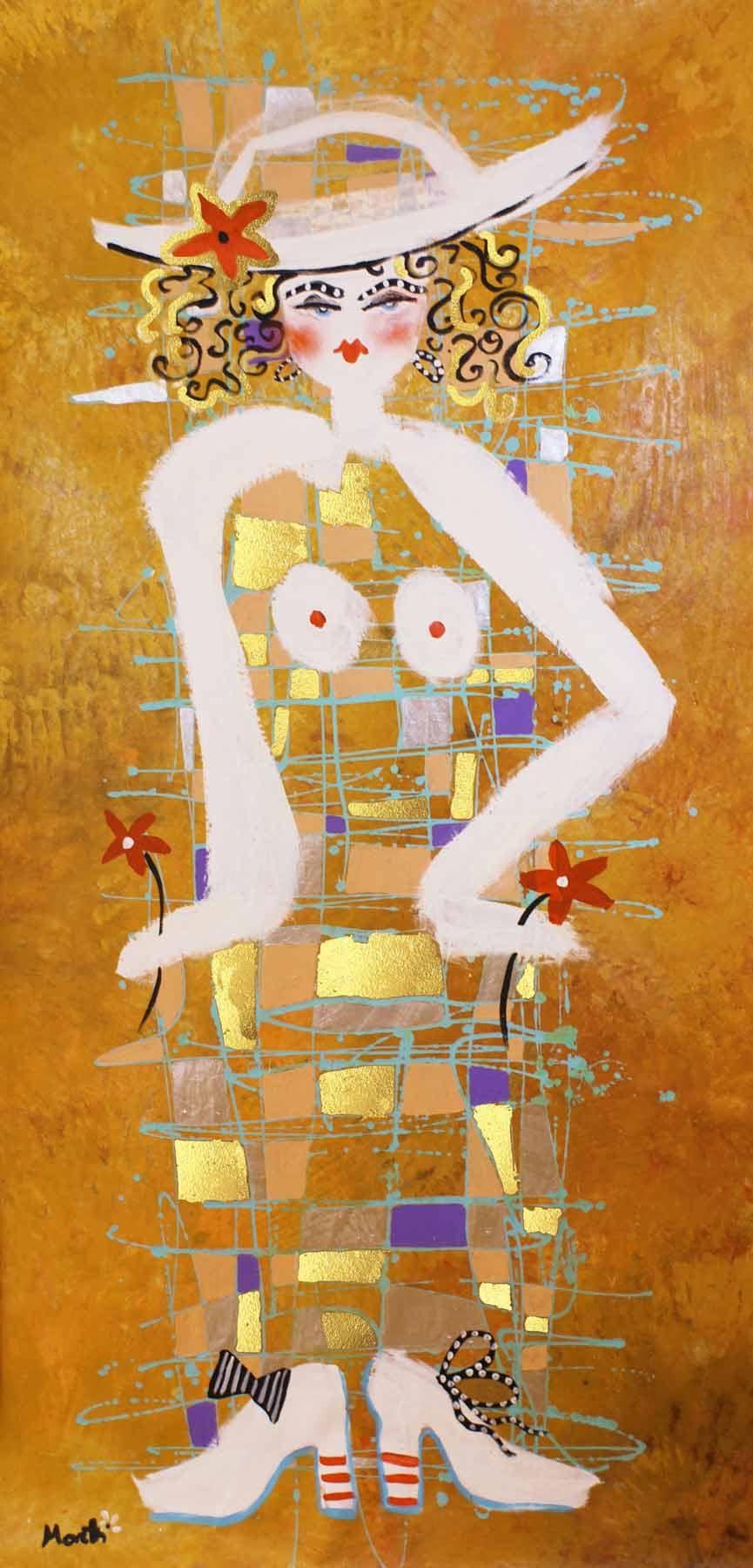 Acrylbilder modern: Dame No.4
