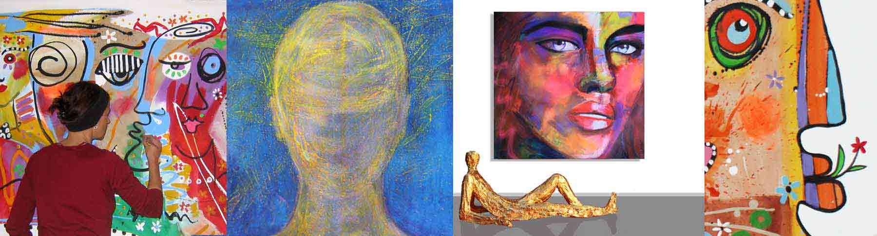 Portaitmalerei: Gesichter Gemälde