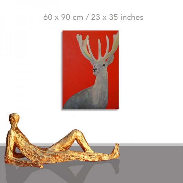 Acrylbilder modern: Hirsch