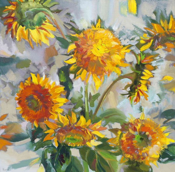 Blumen Gemälde: Ölbilder: Sonnenblumen