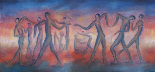 Acrylbilder: Figurative Kunst: Mystic touch