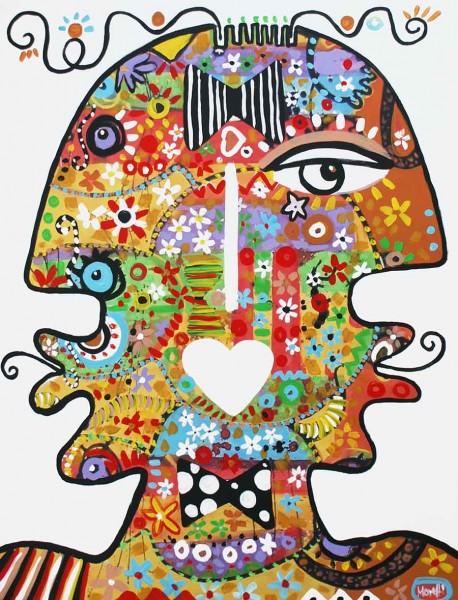 Portraitmalerei: Figurative Kunst: Crazy head