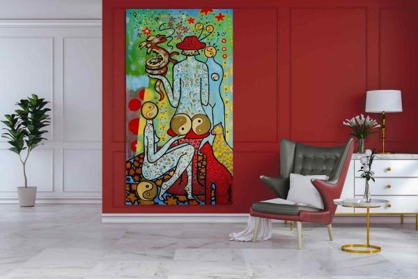 Moderne Malerei: XXL Format: Akt
