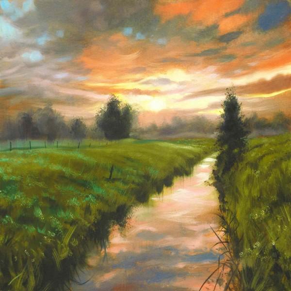 Ölgemälde Landschaften kaufen: Am Bach