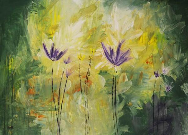 Blumen Gemälde: Ölbilder: Blumenpaar