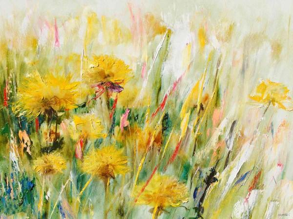 Gemalte Blumen Gemälde: Sonnenblumen