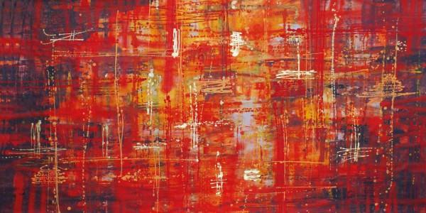 Abstrakte Gemälde kaufen: Rosso con Oro