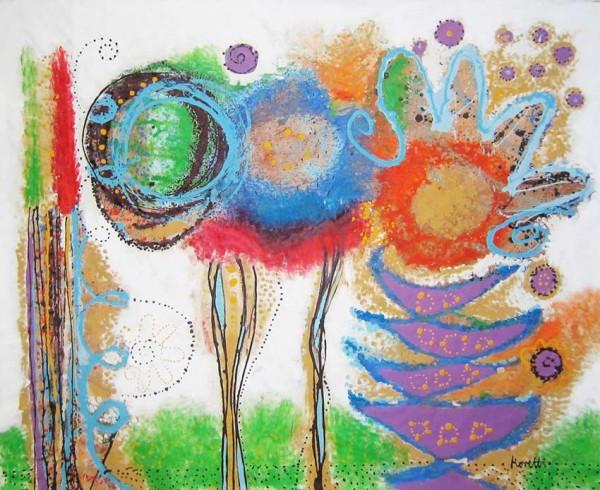 Blumen Gemälde: Ölbilder: Jardin