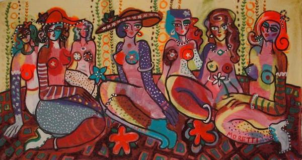 Acrylbilder: Figurative Kunst: Madames