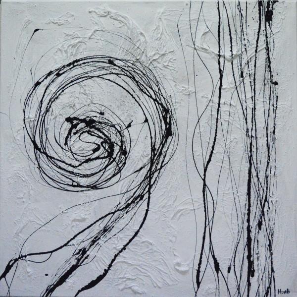 Gemälde modern: Schwarz weiß Bilder: Quadratur