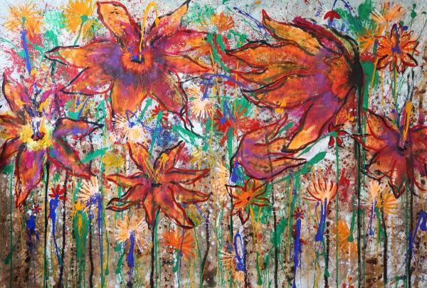 Blumen Gemälde: Ölbilder: Wilde Wiese