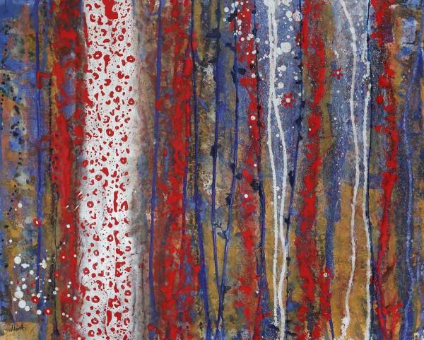 Abstrakte Gemälde: Red tiger