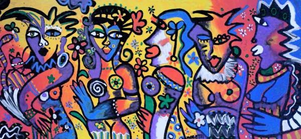 Acrylbilder kaufen: Mademoiselles