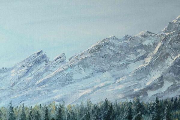 Ölgemälde Landschaften: Meine Berge
