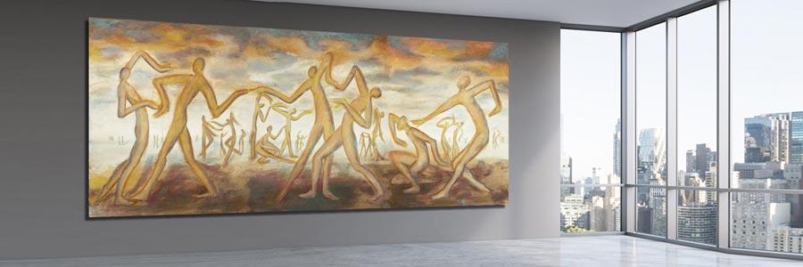 Handgemalte Gemälde XXL kaufen