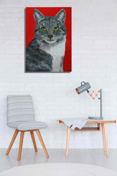 Tierportraits: Figurative Kunst: Katze