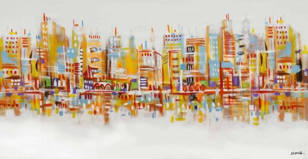 Skyline Bilder: Ölbilder: Metropolis