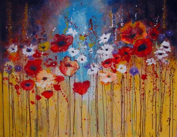 Blumen Gemälde: Ölbilder: Energy Flowers