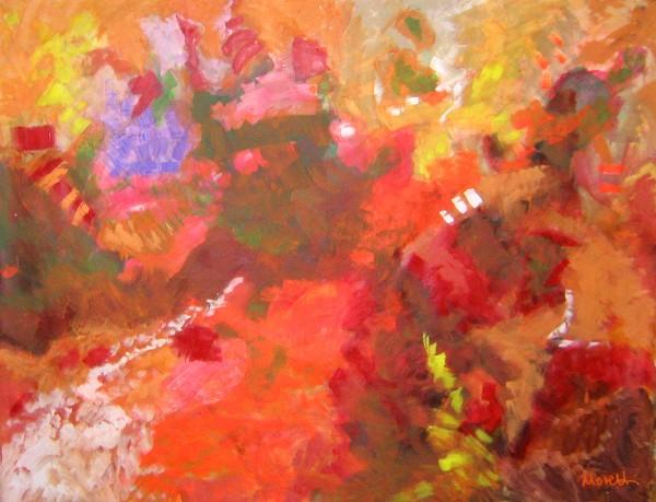 Abstrakte Gemälde: Rouge