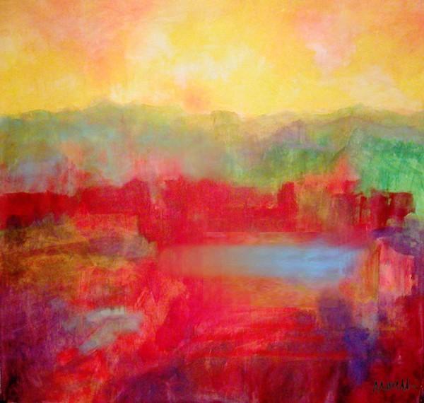 Öl Bilder kaufen Landschaften: Land X